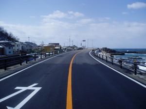 「港地区道路改良工事」