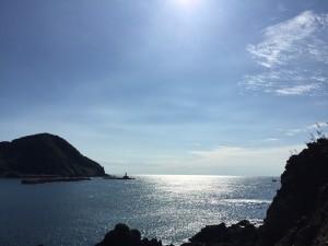 由良の海(白山島から撮影)ーTIME FOR HEALINGー